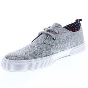 Ben Sherman Bristol Oxford Grey Linen Men's Shoes